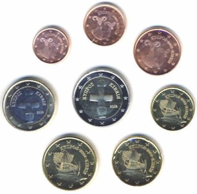 Cyprus 2008 - Set of 8 Euro Coins (UNC)
