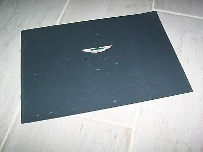 Catalogue /  Brochure ASTON MARTIN DB7 GT & GTA 2003  //