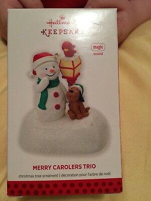 Hallmark Ornament~2013 Merry Carolers Trio