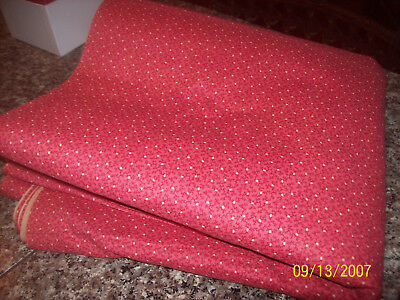 """2 YDS ANTIQUE DOUBLE PINK FABRIC 23 1/2"""" WIDE CIRCA 19TH CENTURY LATE 1800's"""