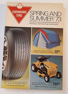 "Rare Canadian ""canadian Tire Corp. 1973 Spring And Summer"" Catalogue - Nice"