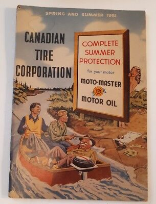 "Rare Canadian ""canadian Tire Corp. 1951 Spring & Summer Catalogue - Nice"