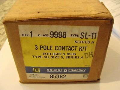 New SQUARE D 9998SL-11 Size 5 Contact Kit 9998SL11 Type SG Starter SER A