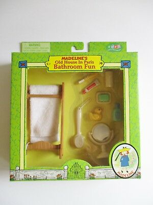 Madeline's Old House In Paris Dollhouse Accessory Bathroom Fun New In Box