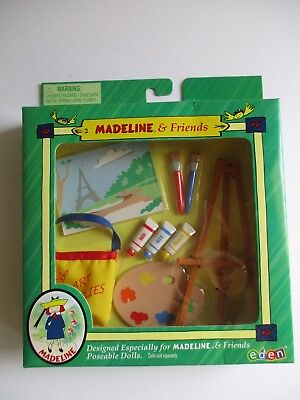 Madeline & Friends  Artist Set With Easel Paints Etc   New In Box