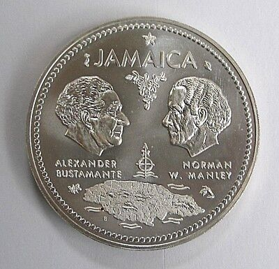 1972 Jamaica $10 Silver Coin Tenth Anniversary of Independence UNC 1.4oz Ag