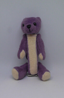 Purple Fuzzy Furry Bear Pez Dispenser Clip On