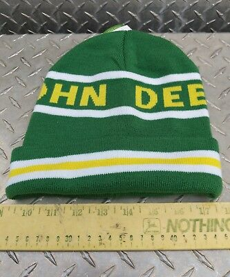 New John Deere Tractor GREEN Farm Advertising Hat Knit beanie Stocking Cap  hat 7403487b20a2