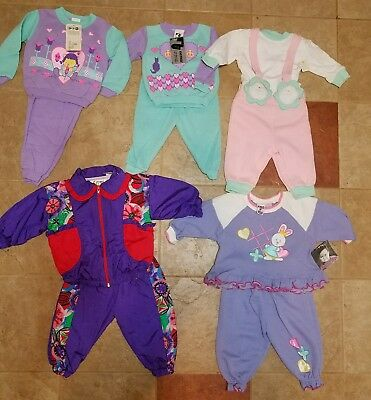 Lot of 5 Vintage Infant Outfits 12 & 24 Months