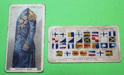 Vintage Cigarette Cards W.D. & H.O. Wills Nelson Series 1905 2/50 Average Con 48