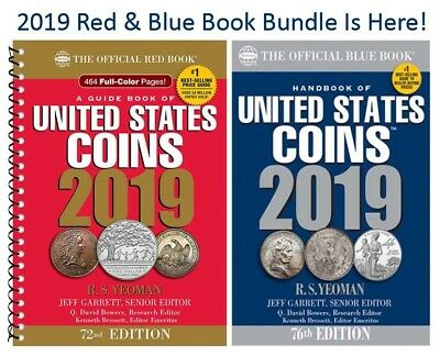 2019 New Official Red Book Price Guide United States US Coins + Blue Book Lot