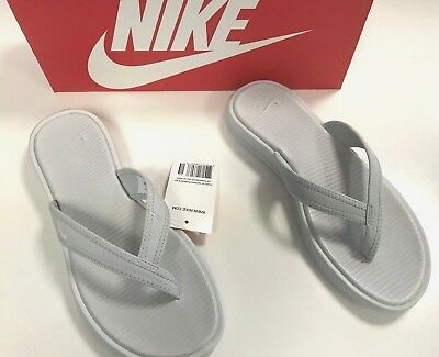 acea338fe0f03 NIKE Women s Ultra Celso Thong 882698-001 Pure Platinum Grey White Size 7