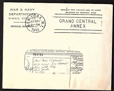 Wwii V-Mail Letter With Original Letter Inside (K2361)