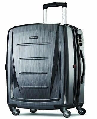 "Samsonite Winfield 2 28"" Charcoal Hardside Spinner Luggage Suitcase Lightweight"
