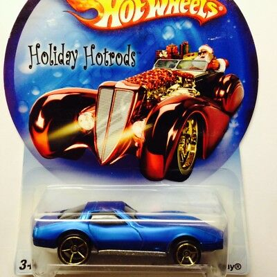NEW Hot Wheels Holiday Hotrods Corvette Sting Ray Blue Genuine Sealed Chevrolet
