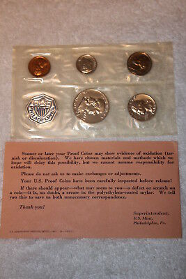 1961 Proof Set With COA, Flat Pack Original Envelope, US Silver Mint Coin Set