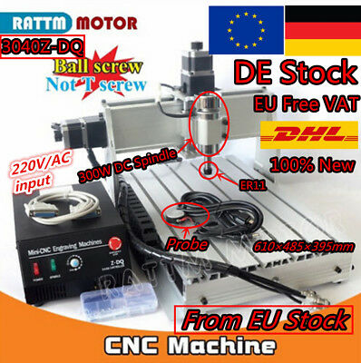 【DE Stock】 3 Axis 3040Z-DQ 300W Mach3 CNC Router Engraving Milling Machine 220V