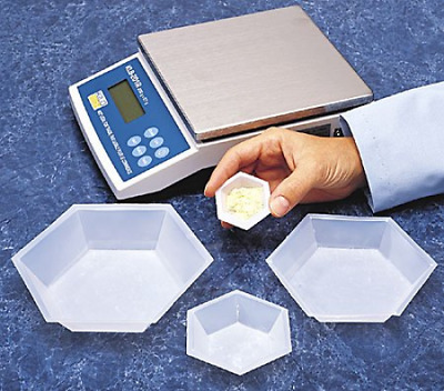 SEOH Plastic Hexagonal Weigh Boats Micro Dish 100pk