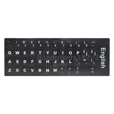 English Non-transparent Keyboard Layout Durable Sticker with Big Letters