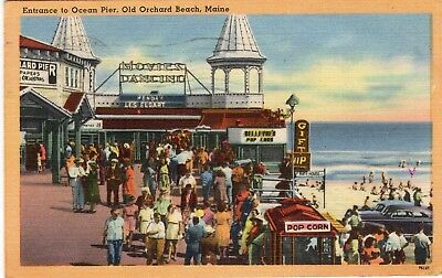 Old Orchard Beach, Maine, Entrance to Ocean Pier
