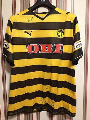 2008/09 BSC YOUNG BOYS Switzerland PUMA PLAYERS SIGNED shirt size XL Auth.