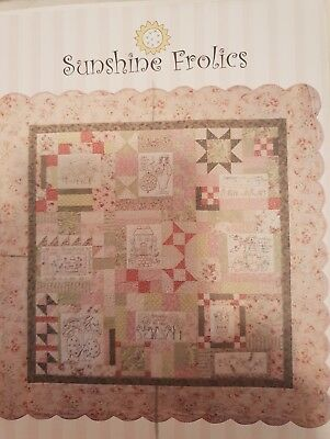 Sunshine Frolics Embroidery Block of the Month