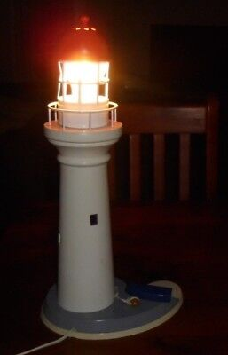 Vintage Collectable Lighthouse Lamp ~ 38cm high ~ working!