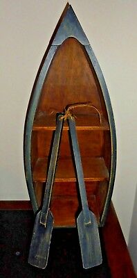 Retro Collectable Boat Shelf with ornamental oars ~ 56cm high ~ Can post!