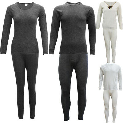 Mens Womens 2PCS SET Merino Wool Top Pants Thermal Leggings Long Johns Underwear