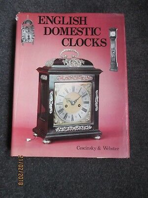 Horological Clock book,  English Domestic Clocks by Cescinsky & Webster.