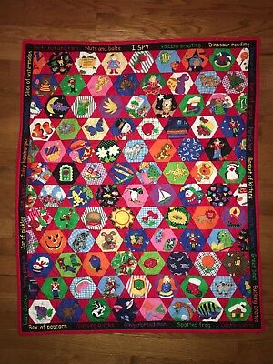 """Cheater Quilt 31x37""""  I Spy Game Learning"""