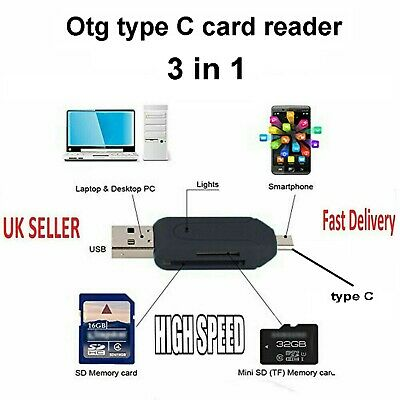 USB 3.1 type C memory card reader adapter for micro sd sdhc tf Galaxy note 8 uk