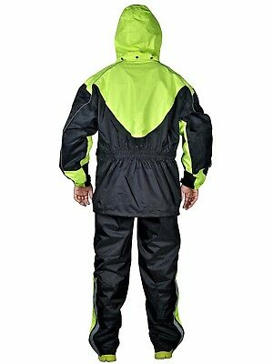 Motorcycle Rain Gear - Two Piece Motorcycle Rain Suit Yellow Black  RN3