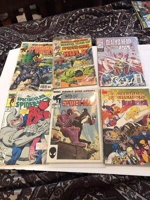 Web of Spiderman - Lot of 6 comics - Marvel - Double Sized Annual - 1985