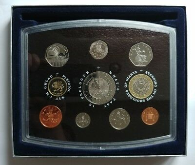 Great Britain 2000 Proof Set (10 Coins) In Origial Royal Mint Case Gem Proof