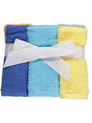 """Luvable Friends """"Brights"""" 6-Pack Washcloths"""