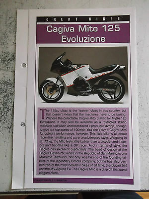 CAGIVA MITO 125 EVOLUZIONE collector file fact sheet.