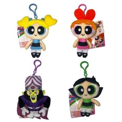 Powerpuff Girls - Soft Plush Bag Clip Keychain - Bubbles, Buttercup & Blossom !