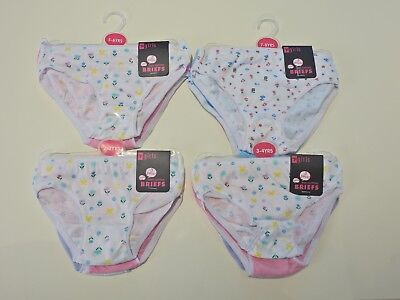 New 3 Pairs Pack Girls Child  Cotton Briefs Pants Underwear Knickers 2-8 Years