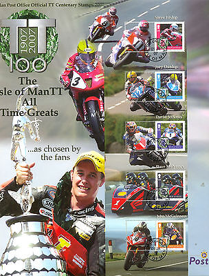 Isle of Man TT Races 2007-SCARCESMALLER SIZE & DIFF PERFS to original issue/CTO