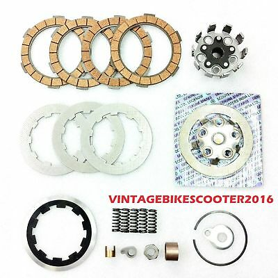 New Lambretta Clutch Kit 4 Plates- Housing,Flange,Plates,Springs,Corks