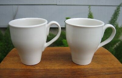 (2) ORIGINAL Iroquois Russel Wright CASUAL WHITE Restyled Mugs