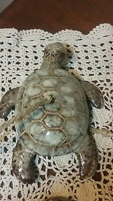 4 Foot Long Ceramic Turtles Wind Chimes Bell Sea Shells Windchime Marine Life