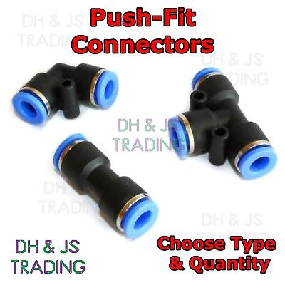 Nylon Pneumatic Push Fit Connector - Speed Fit Air Line Water Hose Compression