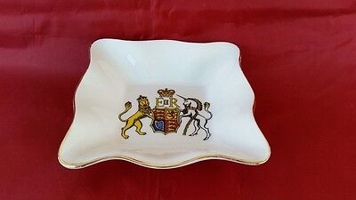 Foley Bone China Queen Elizabeth II Royal Coat of Arms Pin Tray