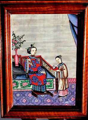 A Chinese pith paper painting, Cantonese school, 19th C.