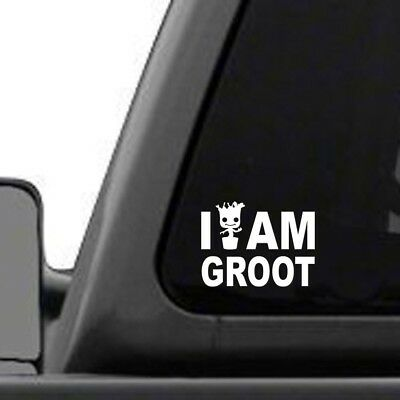 """I Am Groot – 4"""" wide x 3"""" tall, vinyl decal - for windows, cars, laptops."""