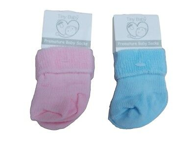 BNWT Tiny baby Premature Preemie pink  or blue socks