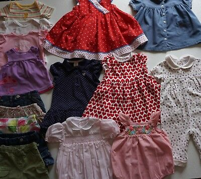 bbbfad64f34f7 Baby Girls Size 6-12 Months Summer Clothes Lot of 19 Items L2-18