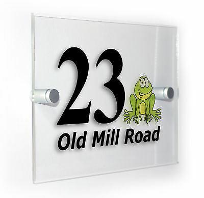 Frog Classic Style Custom House Door Number Sign Plaque